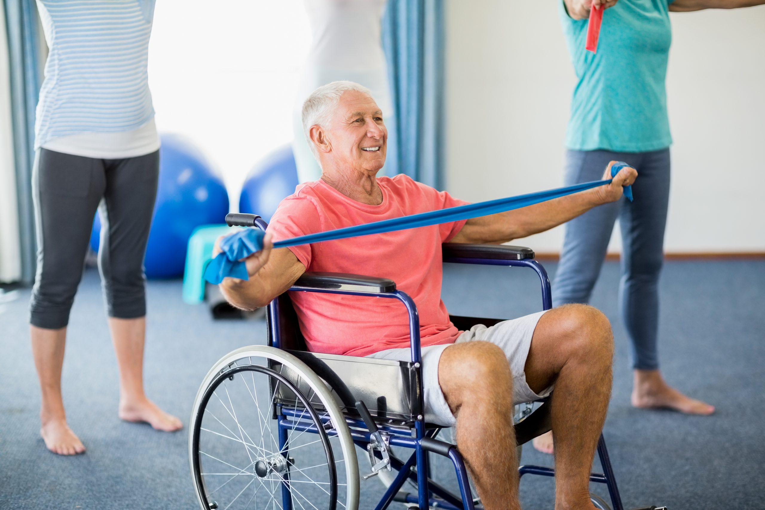 Senior wheelchair exercise
